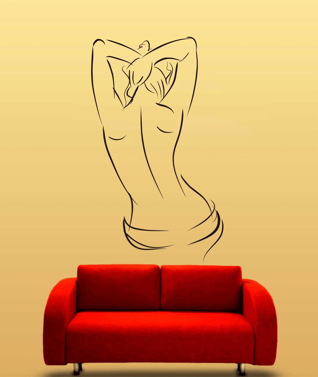 Naked 02 sticker decorativ