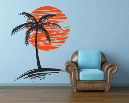 Sunset sticker decorativ