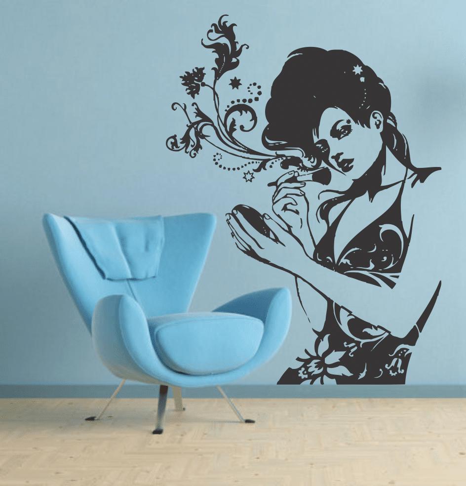 sticker decorativ Stylish girl