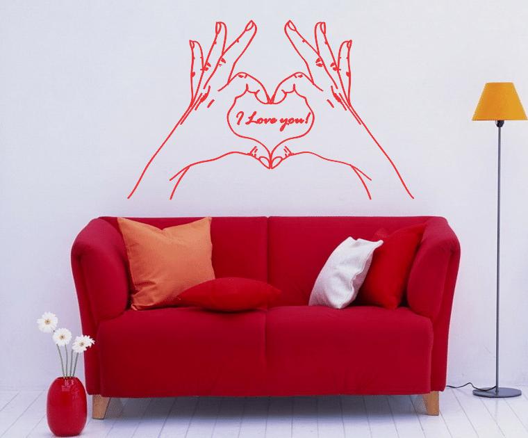 sticker decorativ i love you