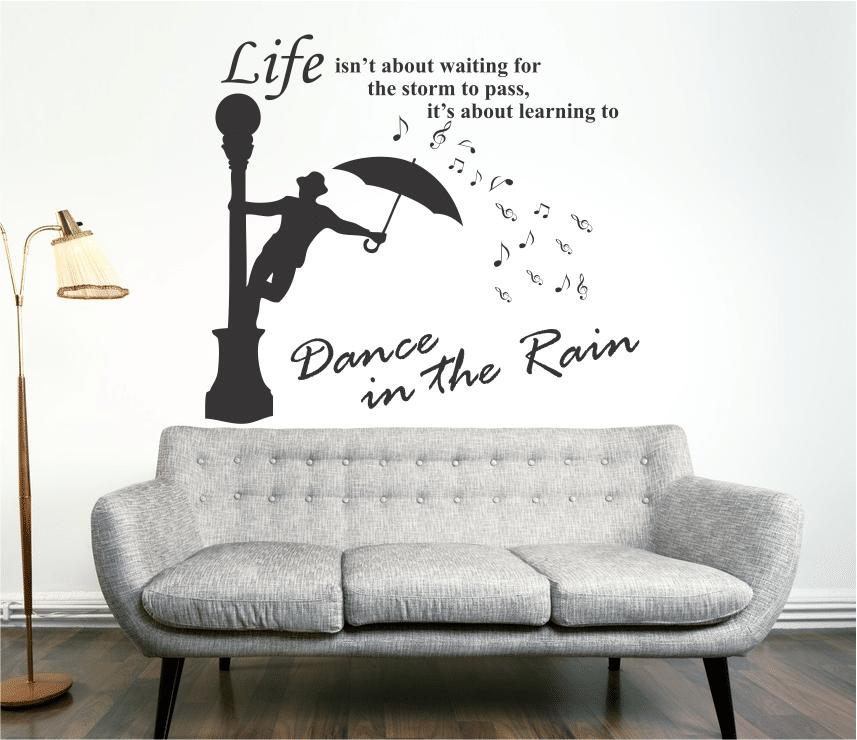 Sticker decorativ Dance in the rain