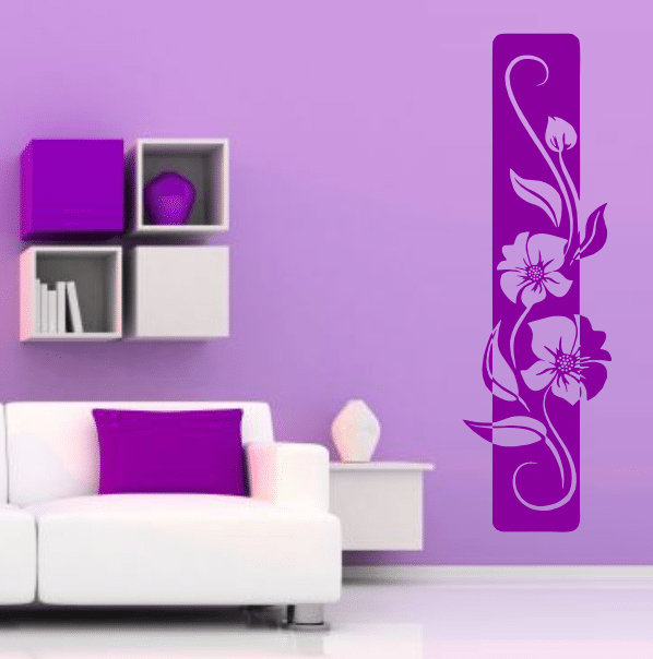 autocolant-perete-dunga-florala