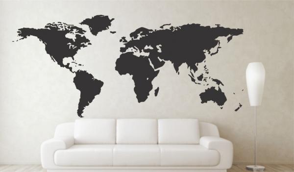Harta lumii Sticker Decorativ