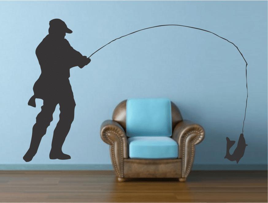 Pescar sticker perete