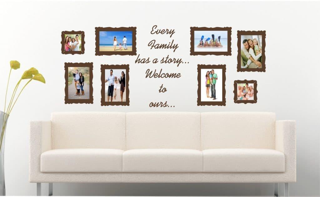 Album de familie sticker decorativ