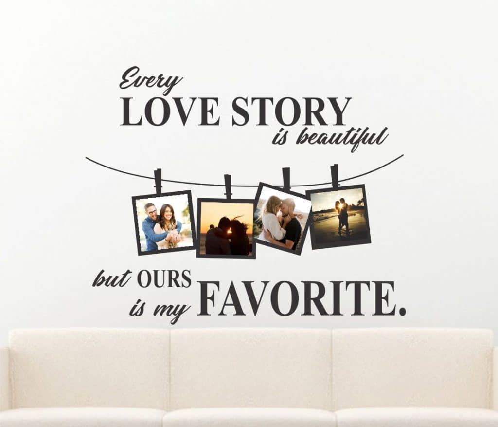 Love Story sticker de perete