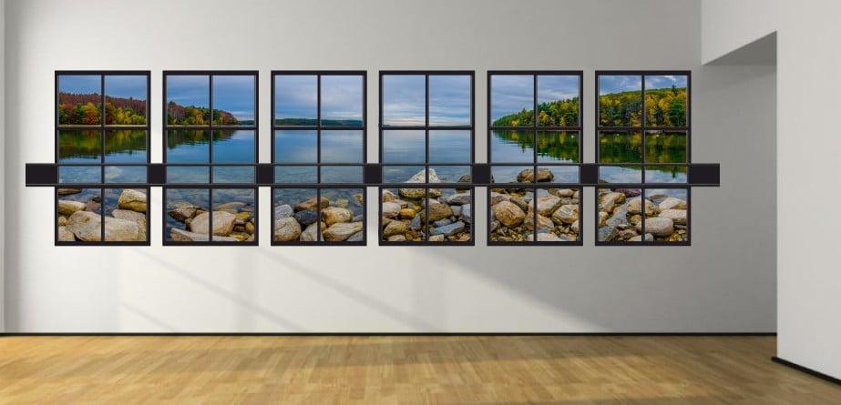 Set ferestre 3D 01 set 6 ferestre sticker 3D