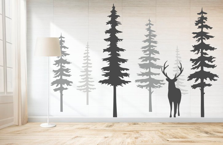 Forest sticker decorativ